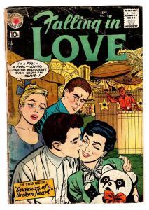 Falling in Love #13 comic book 1957  DC Romance   Carnival fair cover