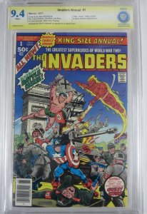 INVADERS ANNUAL  #1 (Marvel,1977) CBCS 9.4 Signed by Roy Thomas! Black Panther