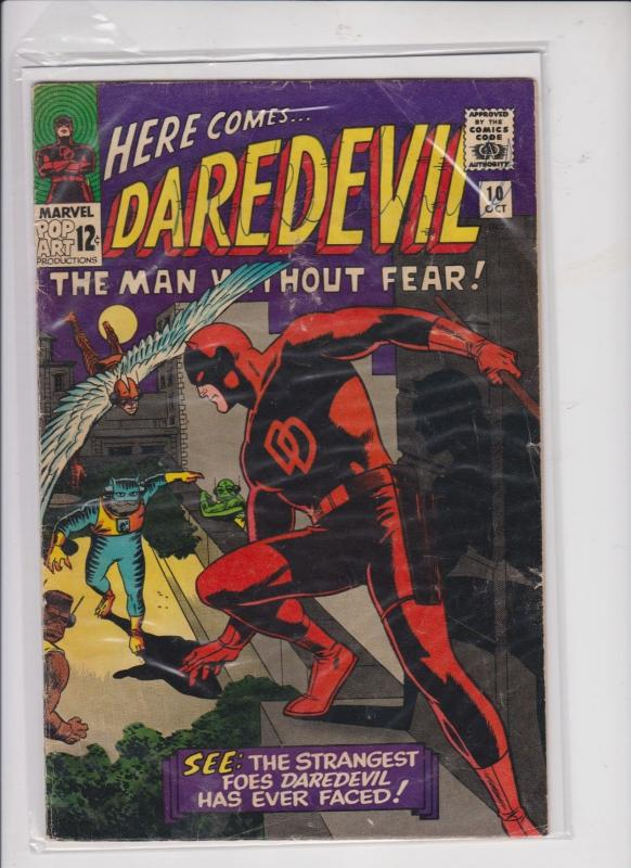 DAREDEVIL THE MAN WITHOUT FEAR V1 #10  1965  THE STRANGEST FOES