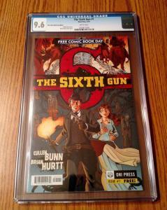 Sixth Gun #1 CGC 9.6 oni press - cullen bunn - brian hurtt - fcbd - white pages