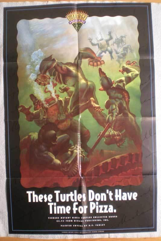 TEENAGE MUTANT NINJA TURTLES Promo Poster, 1991, Unused, more in our store