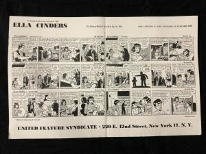 Ella Cinders Newspaper Comic Dailies Proof Sheet 6/16/1952