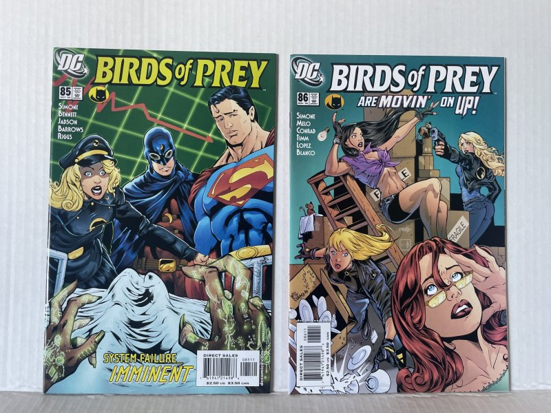 Birds of Prey #85 & 86 (2005) Unlimited Combined Shipping