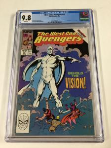 West Coast Avengers 45 Cgc 9.8 White Pages 1st White Vision
