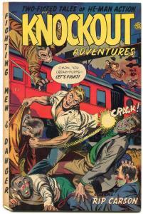 Knockout Adventures #1 1954- Rare Fiction House- Rip Carson- Senorita Rio