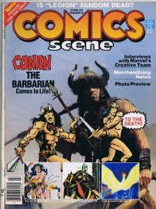 ORIGINAL Vintage 1982 Comics Scene Magazine #4 Conan the Barbarian Movie