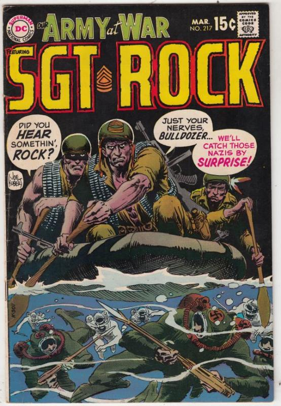 Our Army at War #217 (Mar-70) VF+ High-Grade Easy Company, Sgt. Rock