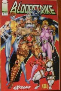 Image Comics Extreme Studios BLOODSTRIKE #4 (1993) Down Time