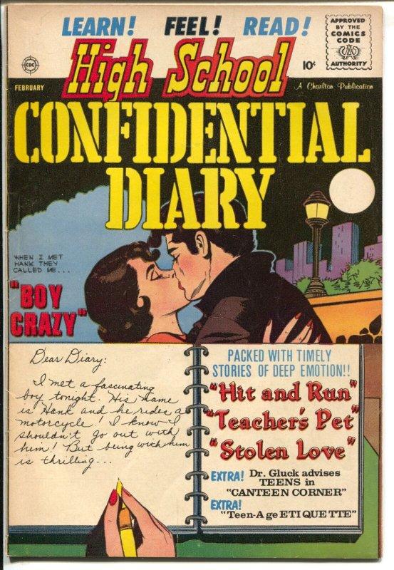 High School Confidential Diary #5 1961-Boy Crazy-rare misprint copy-FN