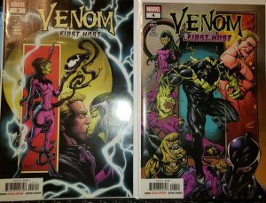 Venom First Host #3 AND #4 (Marvel 2018) 1st Sleeper Appearance and Cover NM