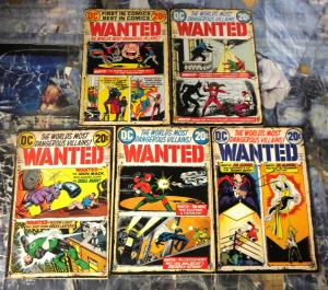 WANTED-DC-The World's Most Dangerous Villains!#3-7 VG-F or BetterFlash!Hour-Man!