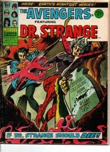 Avengers #72 - Dr Strange - Marvel UK - Magazine Size - 7p - 1975 - VG/FN