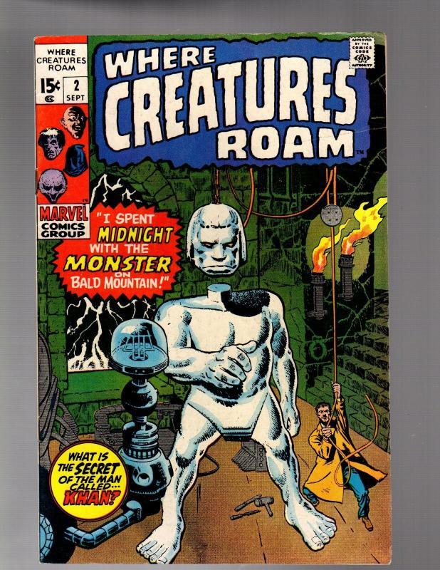 WHERE CREATURES ROAM 2 GOOD-VERY GOOD  September 1970