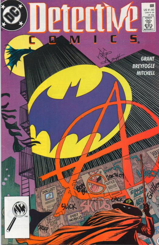 DETECTIVE #608, VF/NM, Batman, 1st Anarchy, 1989, Gotham City, more DC in store