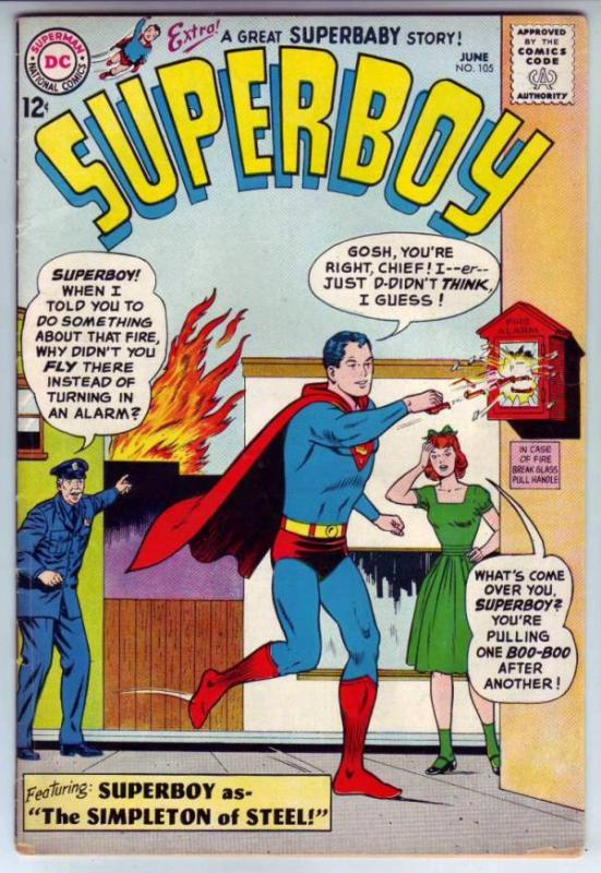 Superboy #105 (Jun-63) FN- Mid-Grade Superboy
