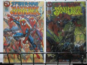 SPIDER-MAN MAXIMUM CLONAGE ALPHA/OMEGA (Marvel, 1995) Spidey vs The Jackel VF-NM