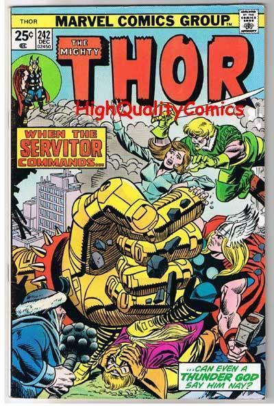 THOR #242, FN+, God of Thunder, Buscema, Len Wein,1966, more Thor in store
