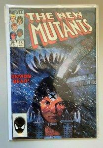 New Mutants #18 Direct 1st appearance of Warlock in Death-Hunt 6.0 FN (1984)
