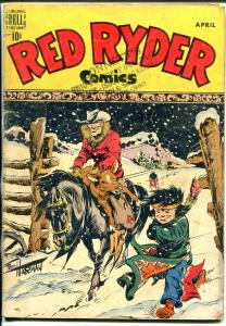 Red Ryder #57 1948-Dell-Little Beaver solo cover-Fred Harmon art & photo-VG-