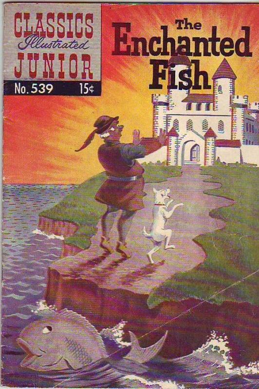 Classics Illustrated Junior #539 (Jun-57) VG+ Affordable-Grade Enchanted Fish