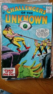 CHALLENGERS OF THE UNKNOWN #44 (DC,1965) Condition VG