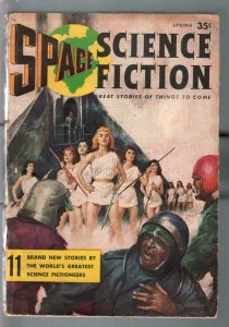 Space Science Fiction #1  Spring 1956-Bruce Minney-Carl Jacobi-VG