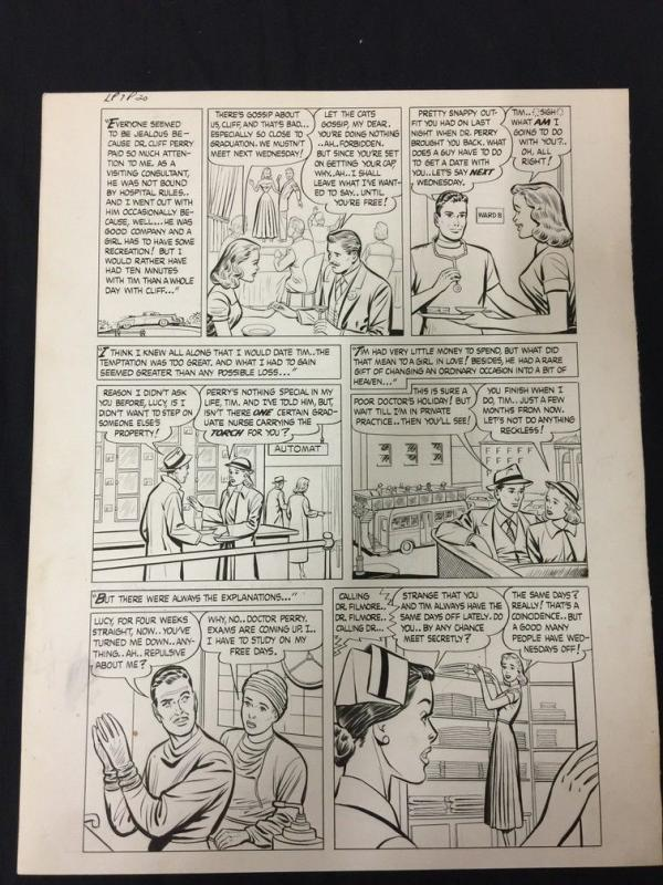 True Love Problems  #7 Page 20 Original Comic Art Bob Powell Golden Age