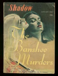 THE SHADOW JANUARY 1946- BANSHEE MURDERS MAXWELL GRANT VG