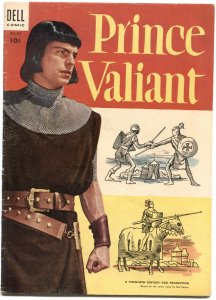 PRINCE VALIANT-FOUR COLOR COMICS #567-1954-ROBERT WAGNER MOVIE ED-DELL