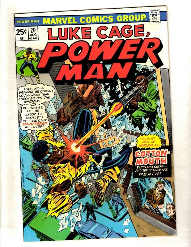 Luke Cage Hero For Hire # 20 VF Marvel Comic Book Cotton Mouth Harlem Defen JL15
