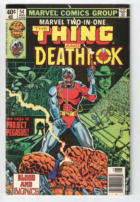MARVEL TWO IN ONE #54.F 6.0;1st TITANIA;1st GRAPPLERS;DEATH OF DEATHLOK