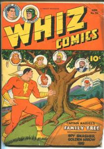 WHIZ #55 1944-FAWCETT-CAPT MARVEL FAMILY TREE-IBIS-SPY SMASHER-vg minus