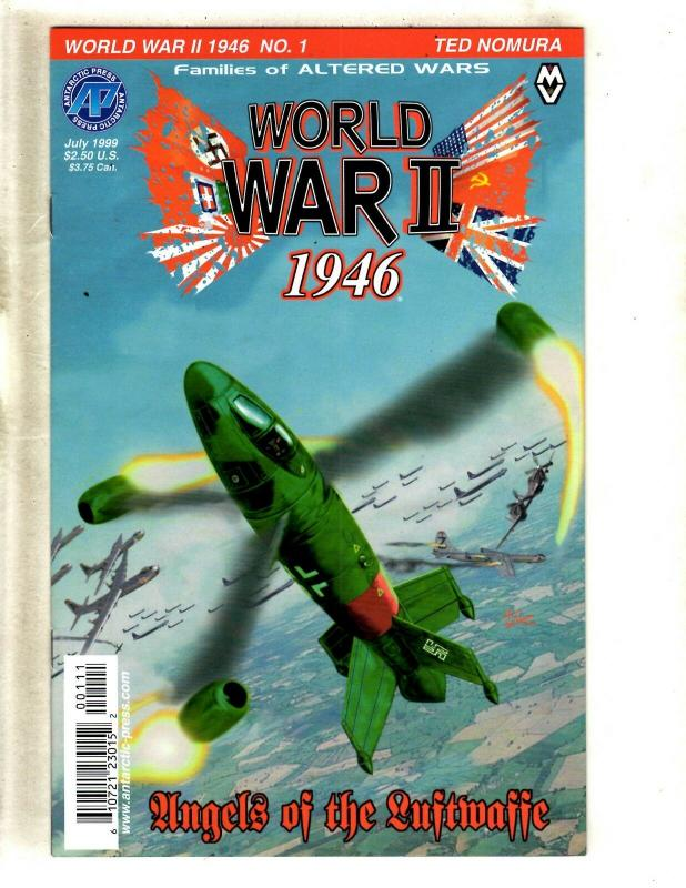 Lot Of 6 World War 2 1946 Antarctic Press Comic Books #1 2 3 4 5 6 Luftwaffe FM8
