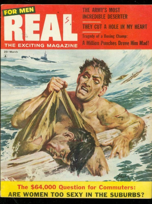 REAL-MAR 1956-JEAN LAMONT-VERA MILES-SAUNDERS & DESOTO FN