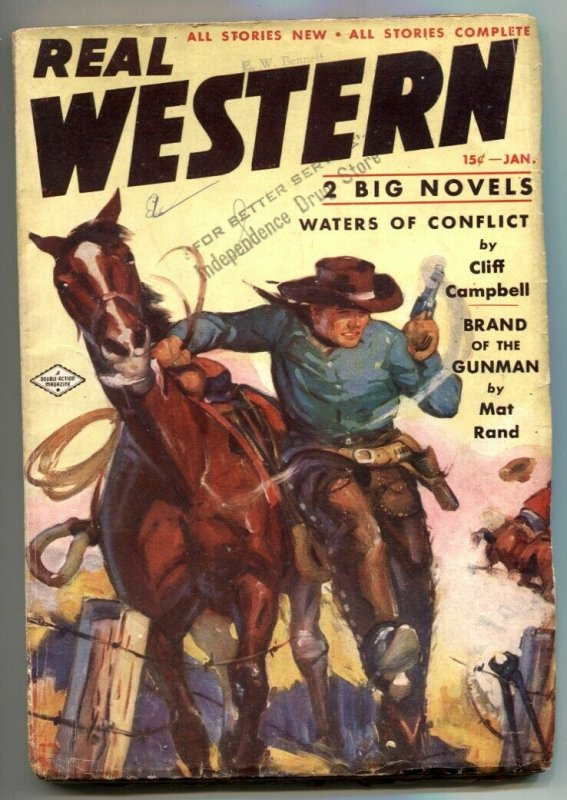 Real Western Pulp January 1938- Waters on Conflict VG+