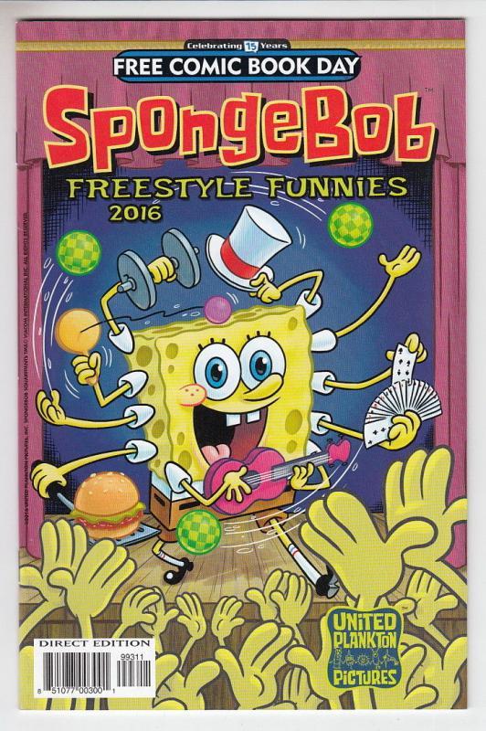 Spongebob Freestyle Funnies Unstamped NM FCBD 2016