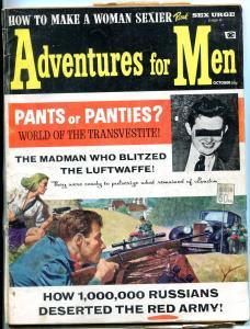 Adventures For Men Magazine #1 October 1965-RAMONA ROGERS-CRIME--WWII