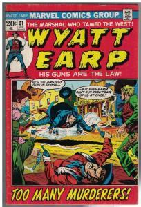 WYATT EARP (1972) 31 VG Dec. 1972