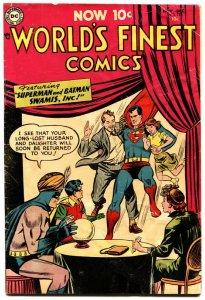 WORLD'S FINEST #73 1954-Superman Batman-Green Arrow Golden age DC comic