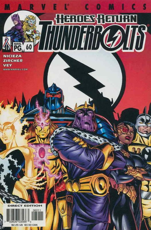 Thunderbolts #60 VF/NM; Marvel | save on shipping - details inside