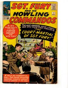 Sgt. Fury & His Howling Commandos # 7 FN Marvel Comic Book Silver Age J306