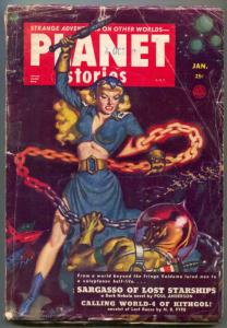 Planet Stories Pulp January 1952-Sargasso of Lost Starships VG