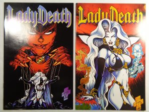 Lady Death II Between Heaven and Hell #3 and #4 Chaos Comics 1995