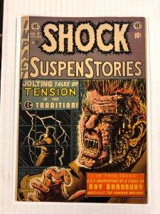 Shock SuspenStories #7 F+ 6.5 EC Comics 1952 golden age HORROR feldstein cover