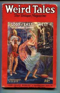 Weird Tales 1/1928-Seabury Quinn-Robert E. Howard-Pulp Magazine