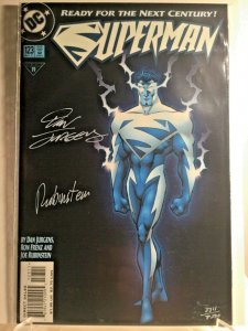 Superman #123 TWO PACK COMBO Glow in the Dark Signed w/COA 1997 Numerical Order