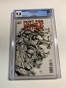 Hunt For Wolverine 1 Cgc 9.8 Sketch Cover Variant Marvel Comics