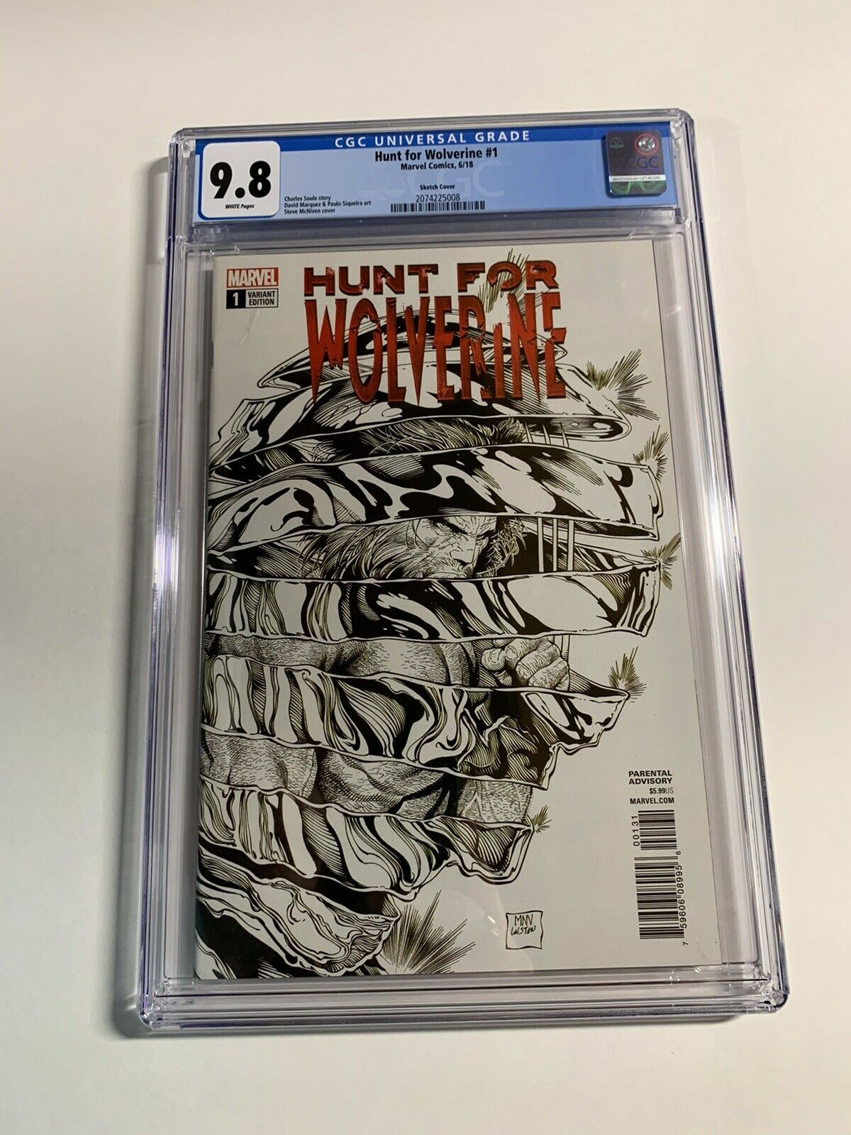 HUNT FOR WOLVERINE #1 NM 1ST PRINT MCNIVEN COVER ART