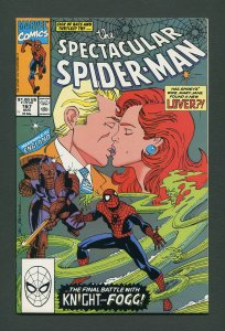 Peter Parker,Spectacular Spiderman #167 / 9.4 NM   August 1990