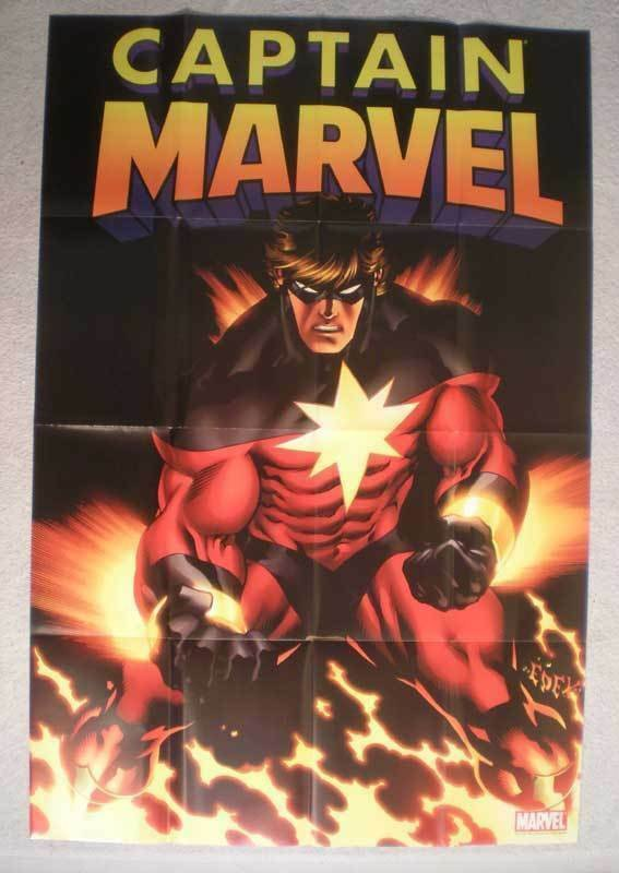 CAPTAIN MARVEL Promo Poster, 24 x 36, 2007, Unused, more in our stor